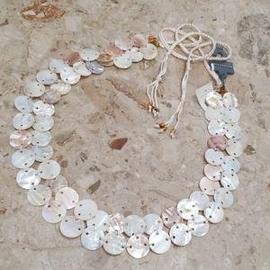 Ann Taylor Seashell Belt Size M/L